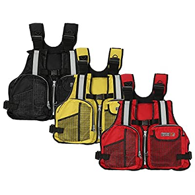 Slimerence Fly Fishing Vest Pack, Boat Aid Sailing Kayak Floating Life Jacket Vest, Adjustable Adjustable Belt of Size for Men and Women