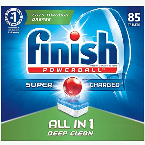 Finish Dishwasher Detergent Soap, All in 1 Powerball, Fresh, 90 Tablets (package may vary)
