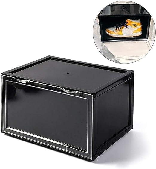 Womdee Caja de Zapatos de plástico apilable, Organizador de Zapatos Transparente para Hombre y Mujer con Apertura magnética para fácil Acceso, estantes de Zapatos Desmontables para armarios y Entrada: Amazon.es: Hogar