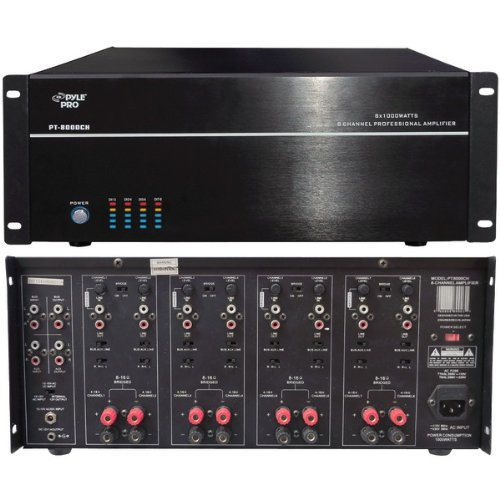 """Pyle Home 8-Channel, 8,000-Watt Stereo/Mono Amp """"Product Category: Amplifiers/Amplifiers"""""""
