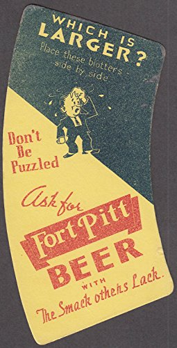 Fort Pitt Beer Which is Larger? Optical illusion Blotter ca (Fort Pitt Beer)