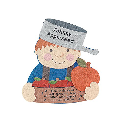 Johnny Appleseed Craft (Fun Express Johnny Appleseed Magnet Craft Kit (Makes 12) Crafts for)