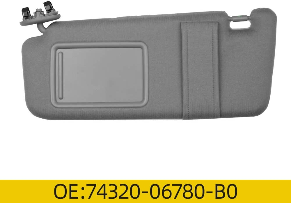 Dasbecan Left Driver Side Sun Visor Fit for 2007-2011 Toyota Camry 74320-06780-B0 74320-33B81-B0