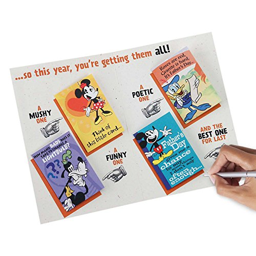 Hallmark Funny Father's Day Greeting Card (Disney Mickey Mouse with Mini Cards Inside) Photo #3