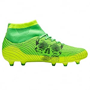 Ben Sports Mens Boys Indoor Outdoor Green AG FG Soccer Cleats Football Cleat Boots Shoes for Kids Adults