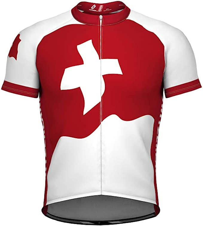 ScudoPro Switzerland Short Sleeve Cycling Jersey for Men