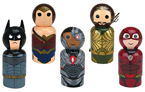 (Bif Bang Pow! Justice League Movie Set of 5 Pin Mate Wooden Figure)