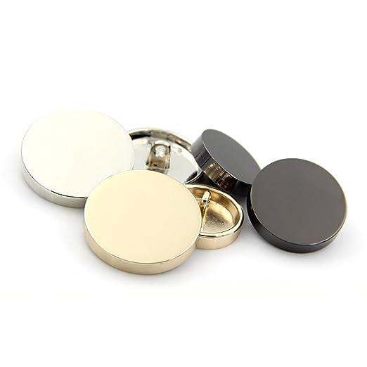 Botones de metal de soporte de costura para abrigo, camiseta, traje, paquete de 10, dorado, 12.5mm: Amazon.es: Hogar