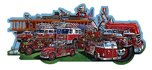 Classic Firetrucks Shaped Jigsaw Puzzle