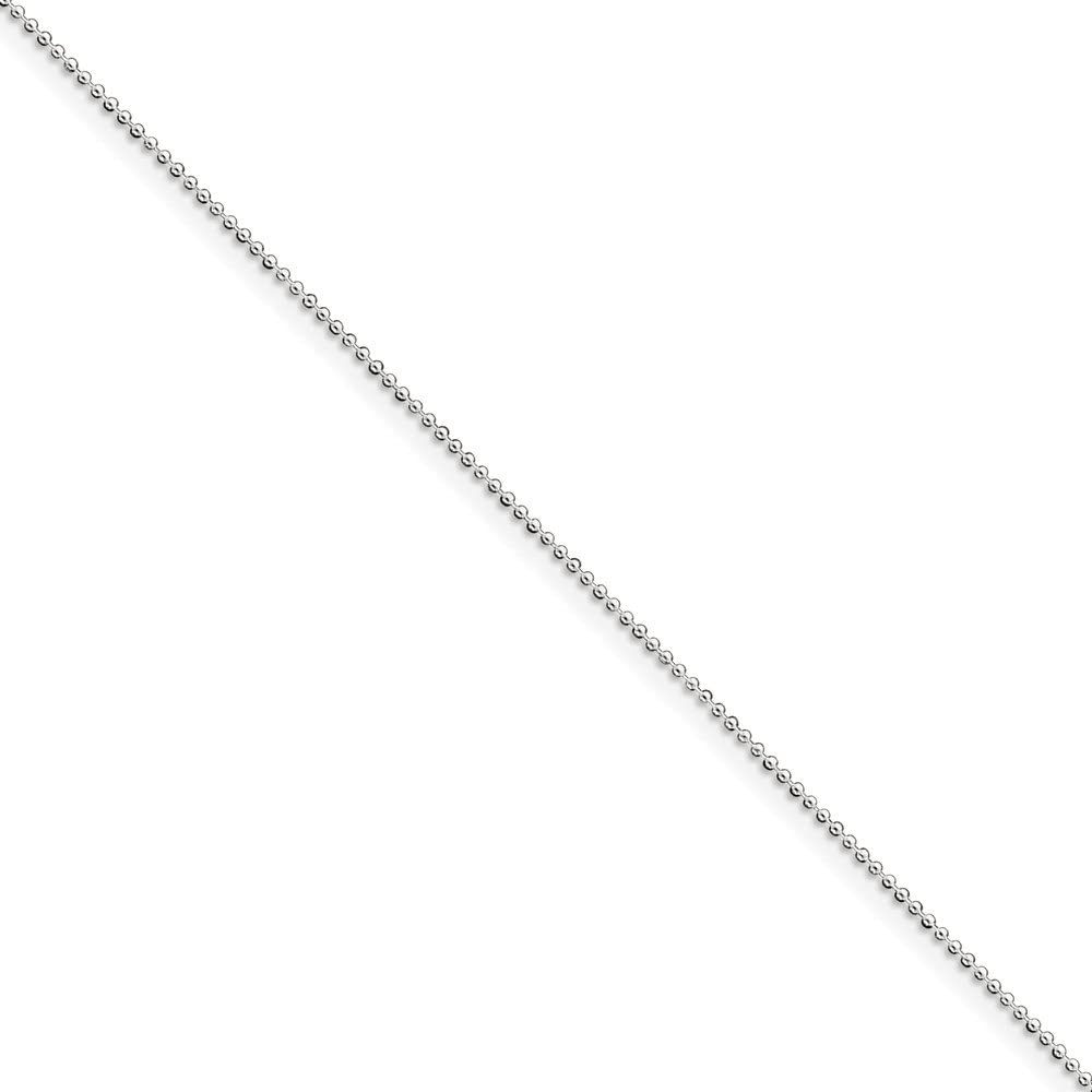 Beautiful Sterling silver 925 sterling Sterling Silver 1mm Beaded Necklace