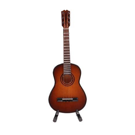 Amazon.es: Homyl Miniatura Guitarra para Casa de Muñecas ...