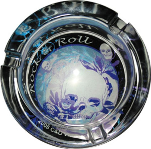 Ashtray Generic Blue Skull Glow in The Dark