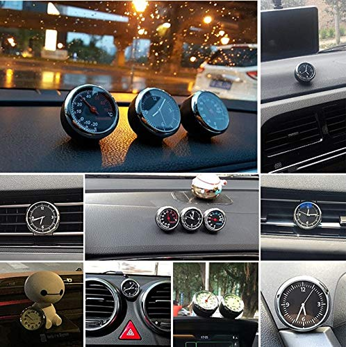 Fastener & Clip car Accessories Automotive Quartz Clock Watch/Thermometer/Hygrometer car Electronic Table Digital for BMW/golf4/vw/opel Astra - (Color Name: Thermometer)