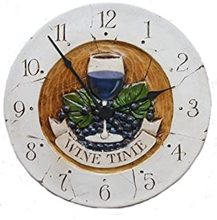 product image for Piazza Pisano Wine Decor Wine Time Wall Clock