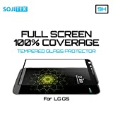 SOJITEK LG G5 Black 100% 3D Full Screen Coverage Premium Ballistic Tempered Glass Screen Protector w/ Lifetime Replacement Warranty - (HD) Ultra Clear 99.99% Clarity