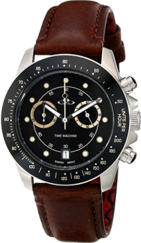 Vivienne Westwood Men's VV118BKBR Barbican Analog Display Swiss Quartz Brown Watch