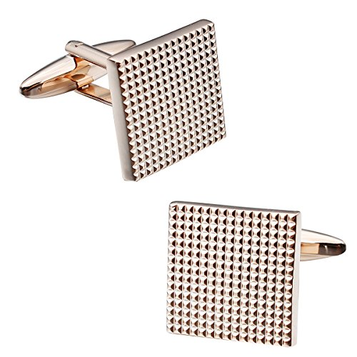 HAWSON Men's 10046, Rose Gold, Normal - Gold Rose Gold Cufflinks