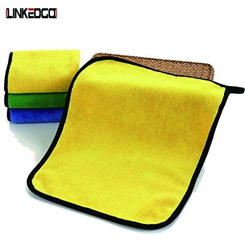 LinkedGo Car Detailing Towels 800gsm of 3 Pack, 3 Colors - 12