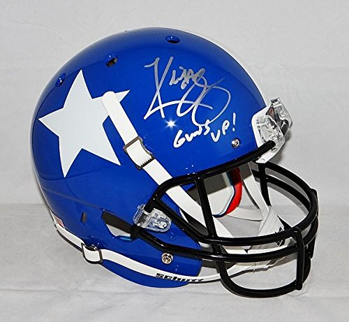 Kliff Kingsbury Signed Texas Tech Full Size Lone Star Helmet With Guns Up - JSA Authenticated
