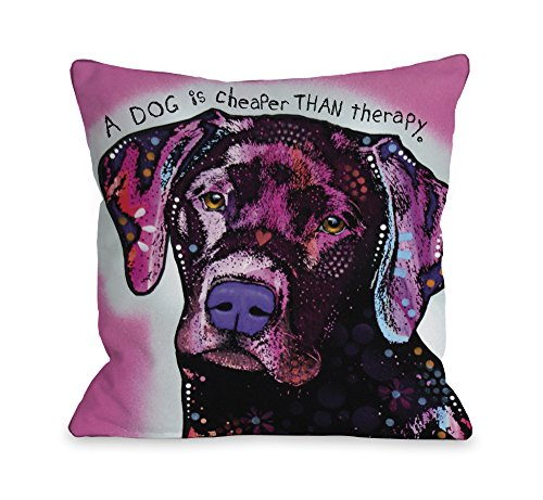 - One Bella Casa Black Lab with Text Throw Pillow Cover by Dean Russo, 18