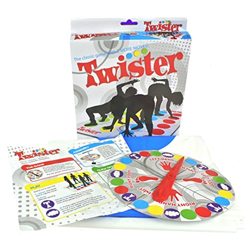 AlleTechPlus Fun Classic Twister Game Boys Girls Get Knotted Floor Board Game Garden Game Party Game Dot (Halloween Twister Game)