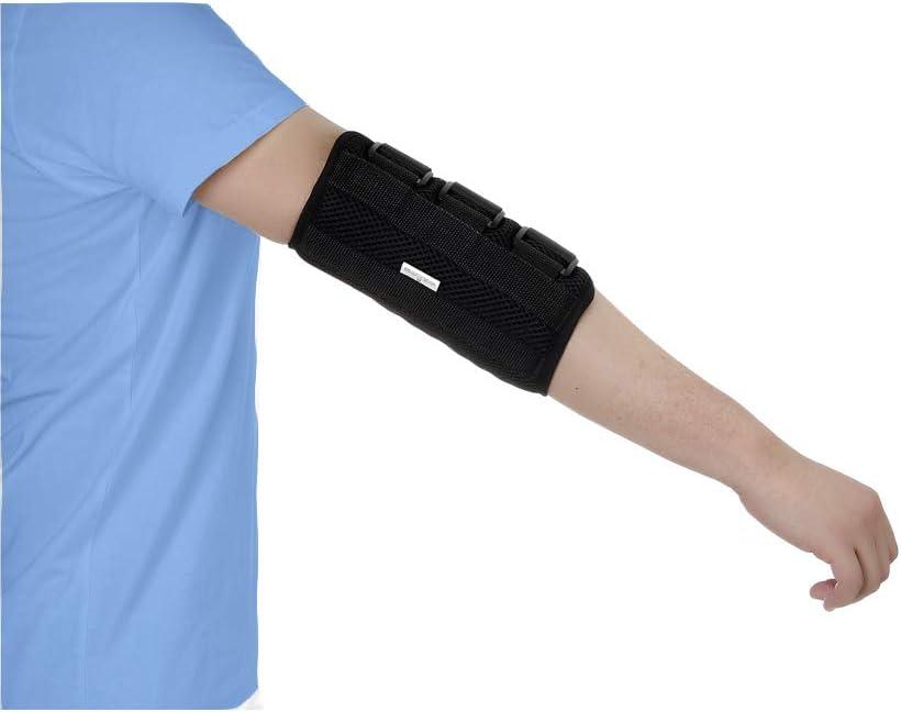 Codera para inmovilizar fracturas, protector para túnel cubital, nervio cubital, lesiones, órtesis de codo para estabilización durante la noche