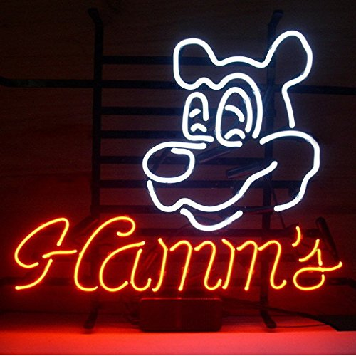 Urby® Hamms Real Glass Neon Light Sign Home Beer Bar Pub Windows Garage W...