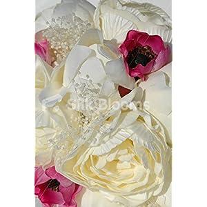 Stunning Ivory Peony, Pink Anemone & Dried Gypsophila Bouquet 2