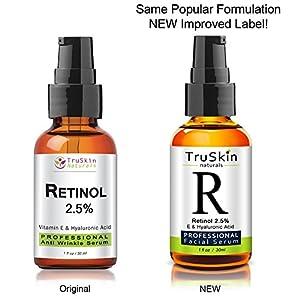 BEST Retinol Serum for Wrinkles & Fine Lines - Vitamin A + Hyaluronic Acid, Vitamin E, Organic Green Tea, Jojoba Oil - Works Best With TruSkin Naturals Vitamin C Anti Aging Serum - 1 Ounce