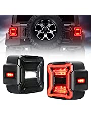 SUPAREE Smoked LED Tail Lights Compatible with 2018-2021 Jeep Wrangler JL