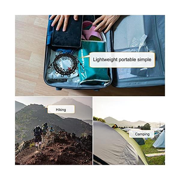 51FuPPw9X1S Powmag Wäscheleine ausziehbar, Camping Zubehör Wohnmobil, 180-340 cm, Camping Wäscheleine Reise Outdoor, Flexible…