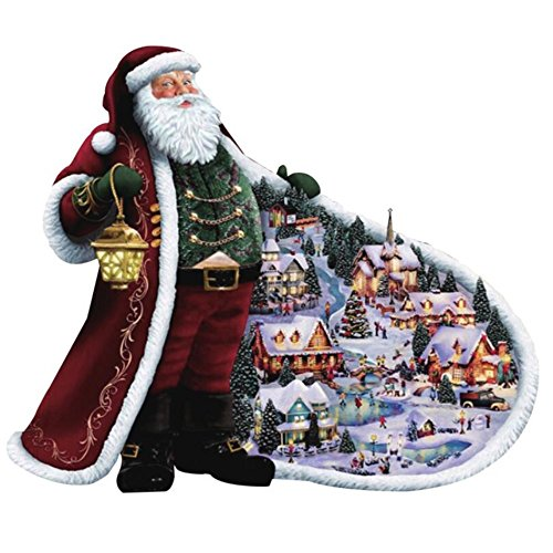 Santa Claus Diamond Painting Art - PigBoss 5D Full Drill Diamond Painting Crystals Diamond Dotz Kit Cross Stitch Christmas Gift for Adults (15.7 x 11.8 inches) by PigBoss