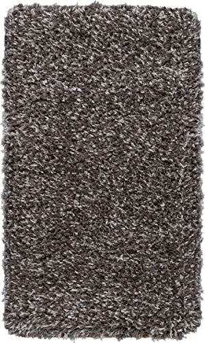 Nourison ULP01 Ultra Shag Black Plush Area Rug 2'2