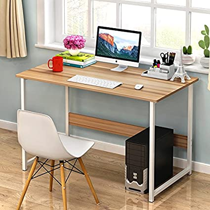 Amazoncom Raumeyun Simple Desk Work Desk Table 395 Length