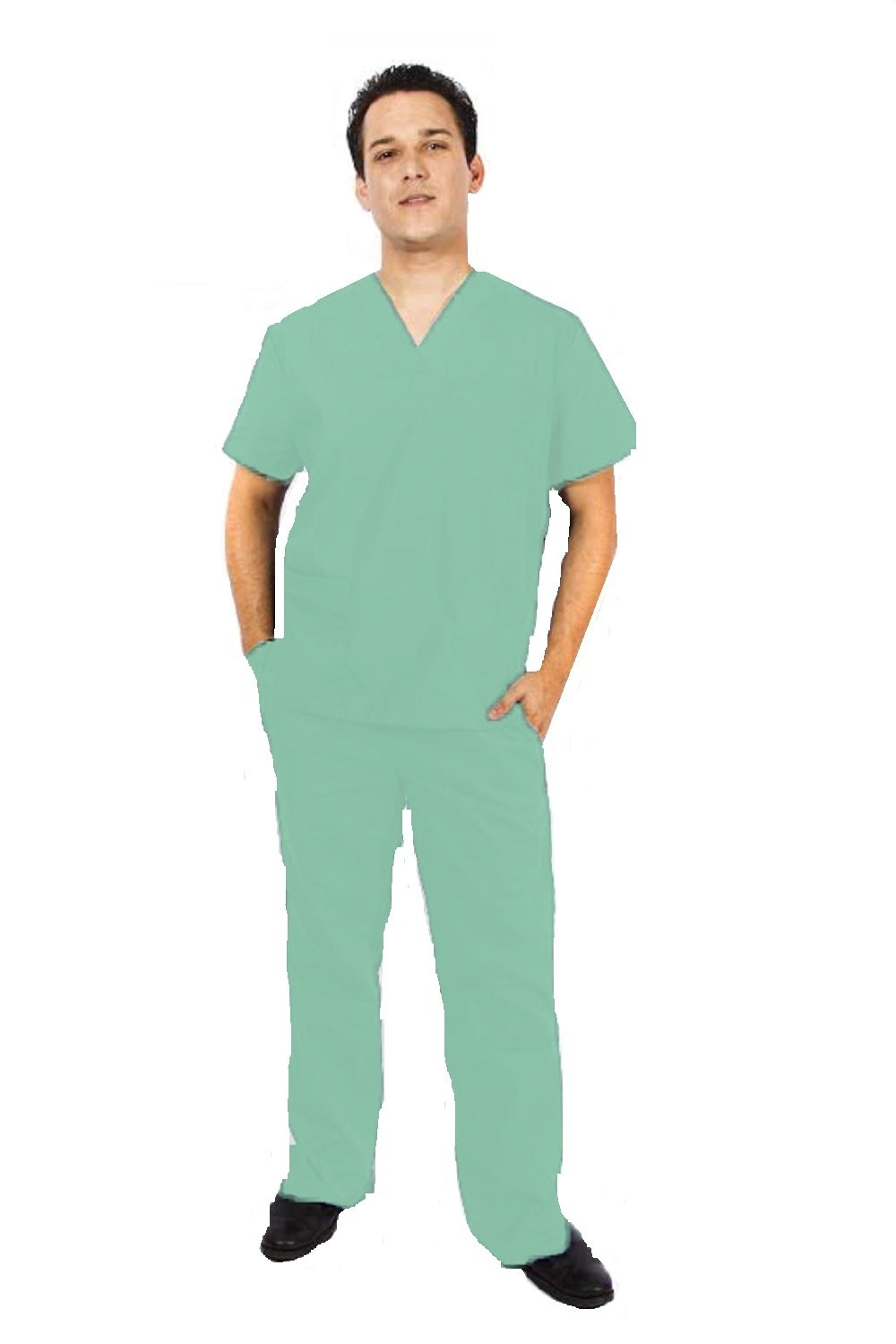 1e2c583d91a Galleon - M&M SCRUBS Men Scrub Set Medical Scrub Top And Pants XXS Surgical  Green