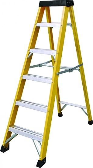 6 banda de rodadura resistente fibra de vidrio escalera de | de electricista GRP paso escalera 30.000 V: Amazon.es: Bricolaje y herramientas