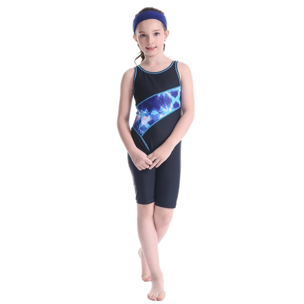 Shiningup Girl Swimming Costumes Competitive One Piece Swimwear Legsuit for 5-12 Years Old Little Princess
