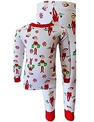 Elf on the Shelf 100% Cotton Christmas Pajamas for Little Boys