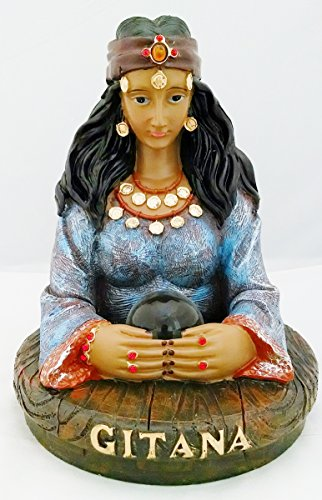 10 Inch Gypsy Gitana Statue Collectible Figure Figurine Psychic Fortune Teller