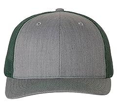 37b4184dd9e Amazon.com  Richardson Black 112 Mesh Back Trucker Cap Snapback Hat ...