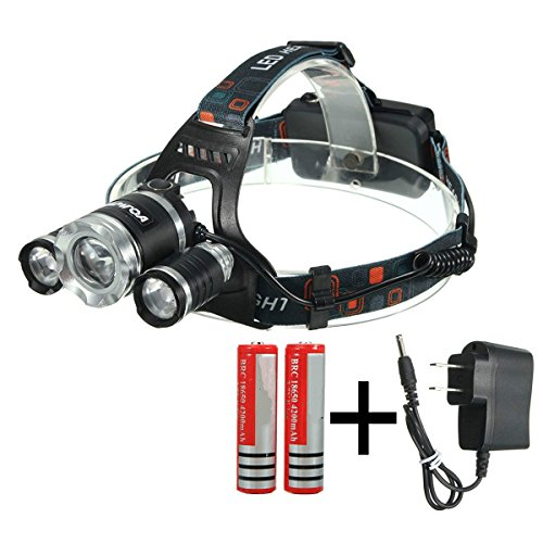 CAMTOA Focusable Headlight Rechargeable Flashlight