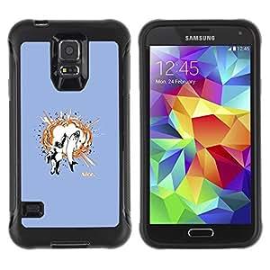 Suave TPU Caso Carcasa de Caucho Funda para Samsung Galaxy S5 SM-G900 / Funny Awesome Shark High Five / STRONG