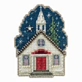 #7: Sunday Night Beaded Counted Cross Stitch Ornament Kit Mill Hill 2018 Winter Holiday MH181834