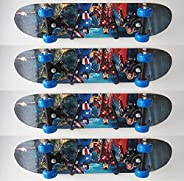 Pmsanzay Skateboard Wall Rack Storage, Holds 4 Boards, Longboard Wall Display Tool Rack, Deck Display Wall Mou