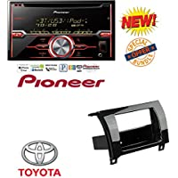 Car Radio Gloss Black Dash Kit Harness for 2007-2013 Toyota Tundra Sequoia