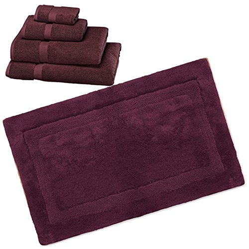 Wamsutta 805 Turkish Cotton Bath Towel Set with Bath Rug (Port, 17''x24'') by Wamsutta