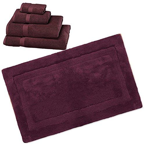 Wamsutta 805 Turkish Cotton Bath Towel Set with Bath Rug (Port, 17''x24'') by Wamsutta