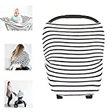 restaurant baby sling - Multi-Use Nursing Breastfeeding Cover Baby Car Set Cover Canopy Shopping Cart Cover Swaddle Blanket for Infants Newborns Toddlers Shower Gift (The City)