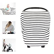 Multi-Use Nursing Breastfeeding Cover Baby Car Set Cover Canopy Shopping Cart Cover Swaddle Blanket for Infants Newborns Toddlers Shower Gift (The City)