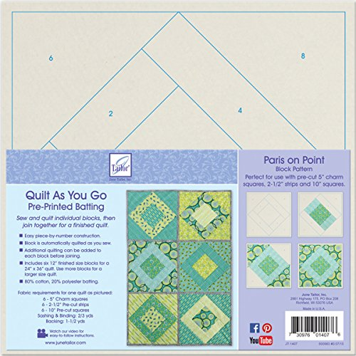 June Tailor Block Series Quilt As You Go - Paris on Point by June Tailor